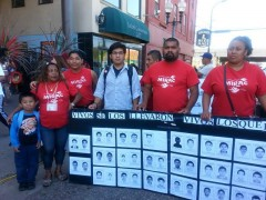 Activists demand justice for Ayotzinapa at Mexican Independence Day parade in Mi