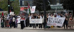 Protest in Milwaukee for Freedom Flotilla
