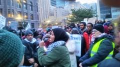 Minneapolis protest against Muslim ban.