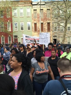 Baltimore protests police killing of Freddie Gray.