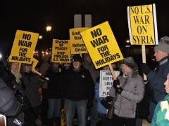 "Twin Cities peace vigil demands, ""Stop endless U.S. wars."""