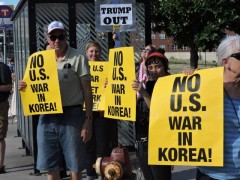 Minneapolis protest against war with DPRK.