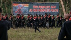 Red fighters of the New People's Army.