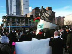 MLK Day rally in New York City.