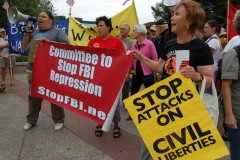 Protestors in front of Minneapolis Convention Center demand end to repression