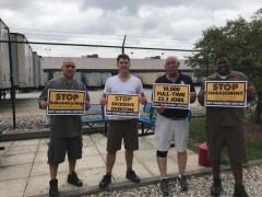 Los Teamsters que trabajan en UPS luchan por trabajos de tiempo completo, un fin