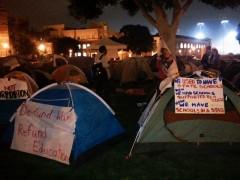 Tents at Angela Davis (formerly Wilson) Plaza, Occupy UCLA.