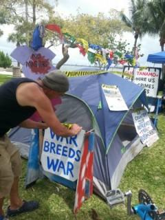 Tents at Occupy Miami