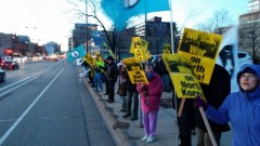 Minneapolis protest against U.S. war on DPRK.