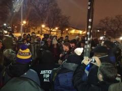 Chicago community vigil for Quintonio LeGrier.