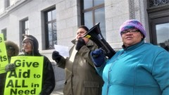Welfare Rights Committee protest at opening day of Minnesota legislature.