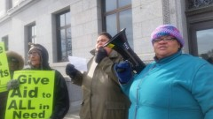 Welfare Rights Committee protest at Minnesota capitol complex
