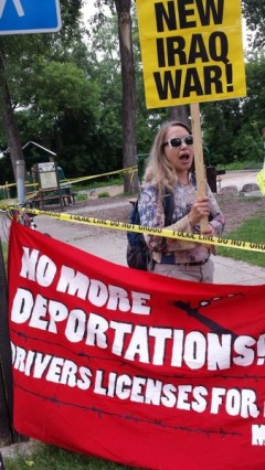 Protest outside Obama fundraiser June 26 in Minneapolis