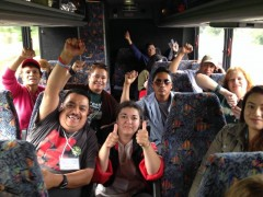 Milwaukee immigrant rights protesters traveling to New Orleans.