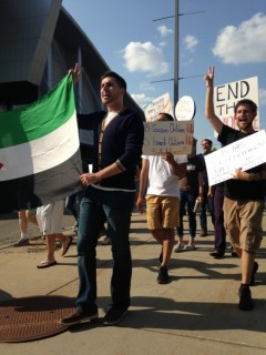Grand Rapids march in solidarity with Gaza.
