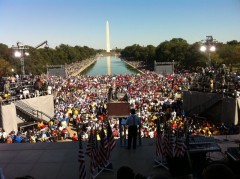 Over one hundred thousand gather on National Mall to demand jobs on October 2