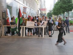 Picket at Chicago Sister City International's Consular Corps Ball
