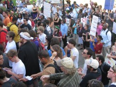 April 6 protest in Gainesville.