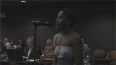 Regina Joseph testifies against nomination of John Thrasher.