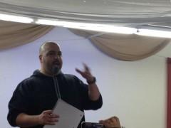 Sabry Wazwaz speaking on Israeli apartheid in occupied Palestine.