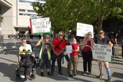 Solidarity with Rasmea Odeh in San Jose, CA.