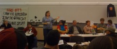 Meredith Aby speaks on SDS panel
