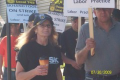 A photo of workers on strike at S-K Hand Tools