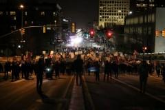Marching against Trump in Salt Lake City.