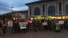 Salt Lake City protest demands end to war on homeless people.