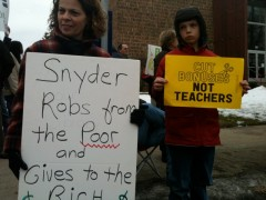 March 15 protest slams Governor Snyder