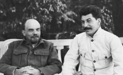 Stalin with Lenin