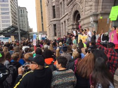 Thousands protest Hennepin County Sheriff personnel at Standing Rock