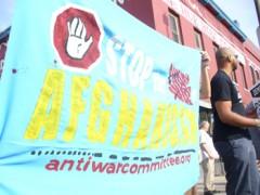 Protest in Minneapolis, 7/23/09 against troop surge in Afghanistan.