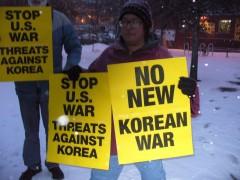 """Minneapolis protest demands """"Hands off Korea."""""""