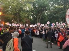 Harvard workers on strike.