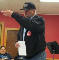 Mark Froemke, president of the Western Regional Labor Federation, AFL-CIO speaki