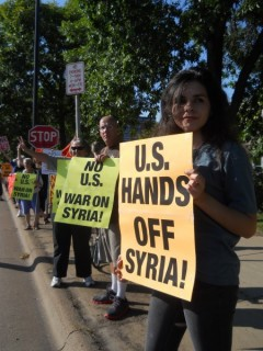 Twin Cities protest demand Congress vote against war with Syria.
