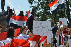 Jacksonville demonstration against U.S. war on Syria.