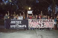 Raices en Tampa vigil and rally on Ayotzinapa anniversary
