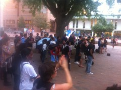 Students protest execution of Troy Davis at UNC Chapel Hill
