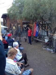 Jafe Arnoldski speaking at Tucson teach-in on U.S./NATO intervention in Ukraine