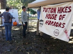 Students learn all about tuition hikes