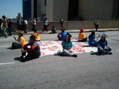 Undocumented youth protest in Atlanta, Georgia on April 5