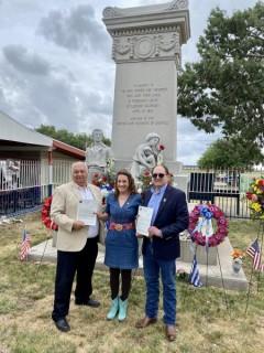 Presentation of Los Mineros Unity Letter at the 2021 Ludlow Massacre Memorial Se