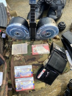 ID's and war materials seized from mercenaries.