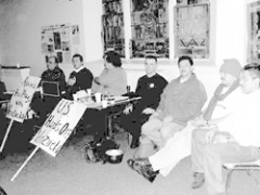 solidarity event at AGAPE House