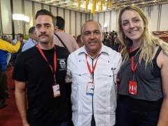 Jared Hamil and Gabriella Killpack with Francisco Torreal