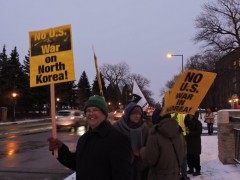 Twin Cities protest against U.S. war on the DPRK.