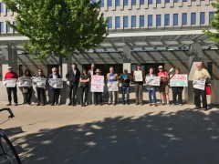Twin Cities protest against ICE detaining immigrants.