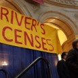 Cherrene Horazuk, AFSCME 3800, speaks at rally for drivers licenses for all